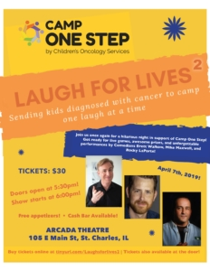 2nd Annual Laugh for Lives Event @ Arcada Theater | St. Charles | Illinois | United States